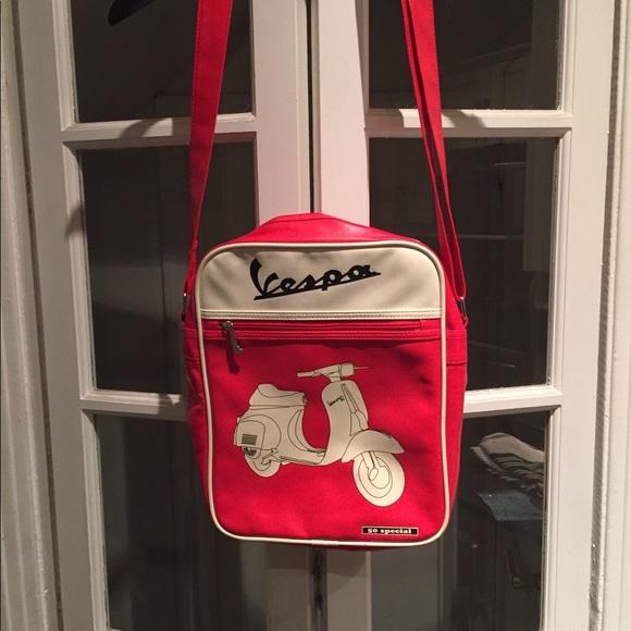Vespa Handbags - Vespa red messenger bag.